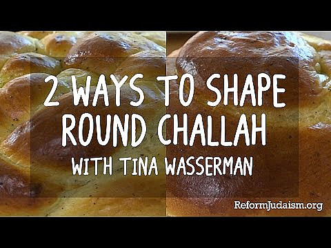 How to Shape a Round Challah