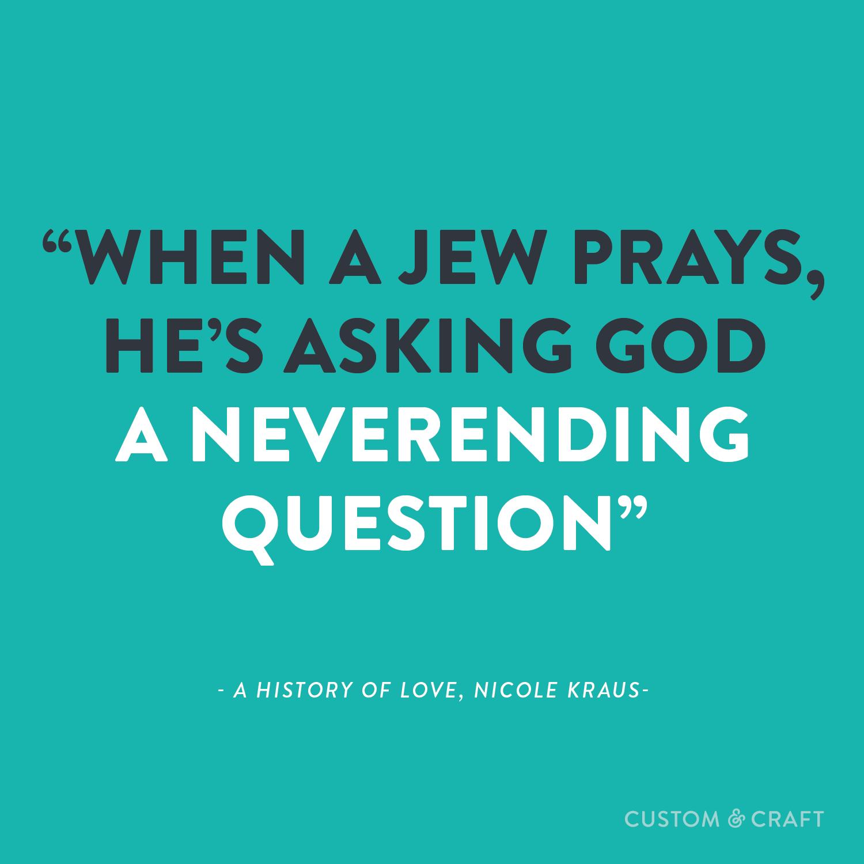 When A Jew Prays