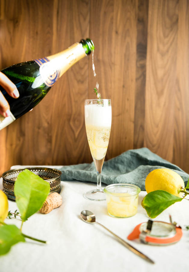 Sparkling Etrog Jam Cocktail