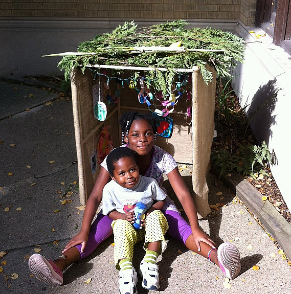 Kids in the Sukkah